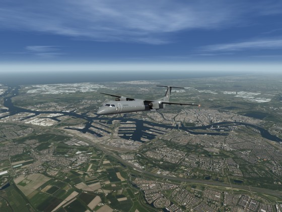 Q400 / Departure EHRD / ORBX TrueEarth The Netherlands