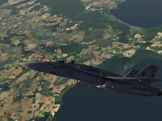 Fun over North-East Germany