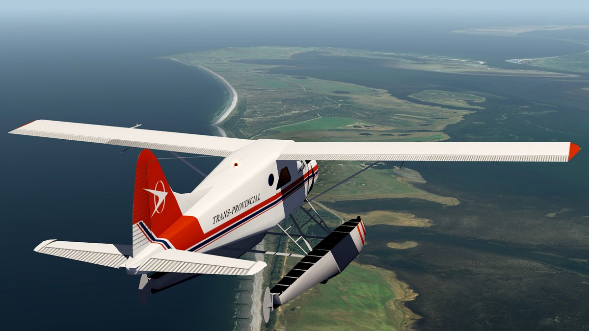 Hiddensee Island-NthGermany+DHC2 Beaver