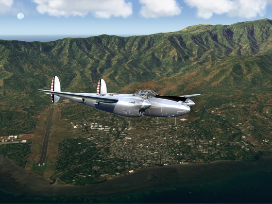 Ouani airfield-Comores Islands+P38 Lightning