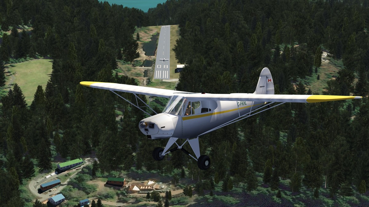 Big Bay_BC-Canada with landed AI plane
