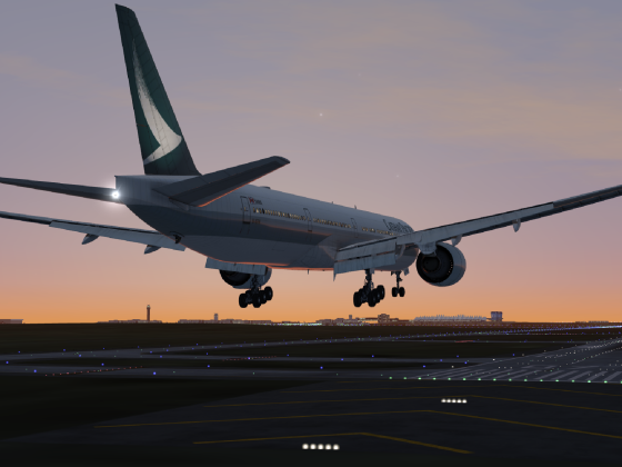 777 dawn landing at DEN