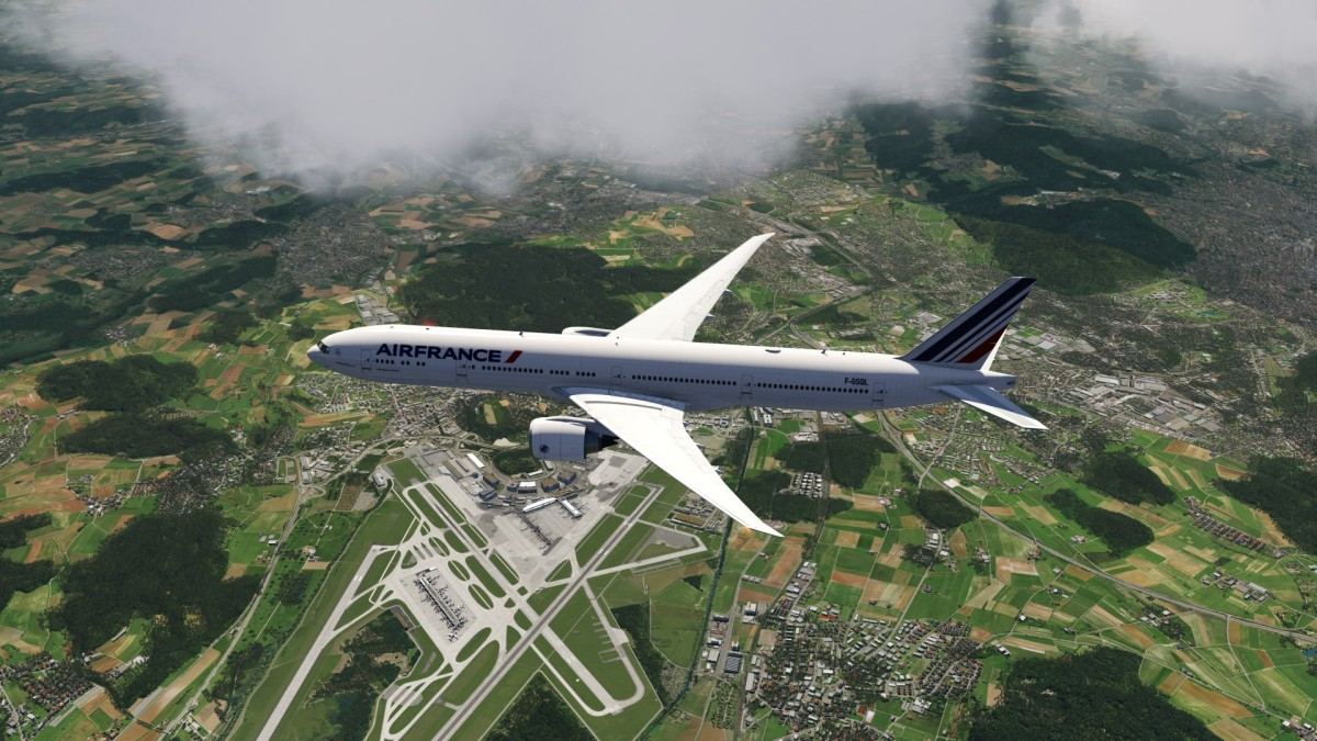 The new 777 over Zürich
