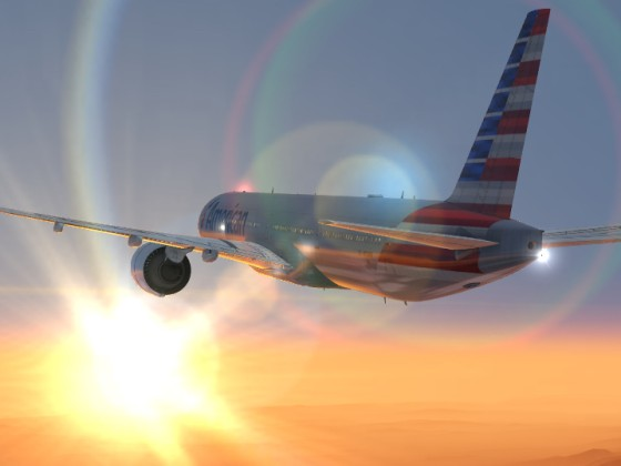 AA 777-300ER Morning flight.
