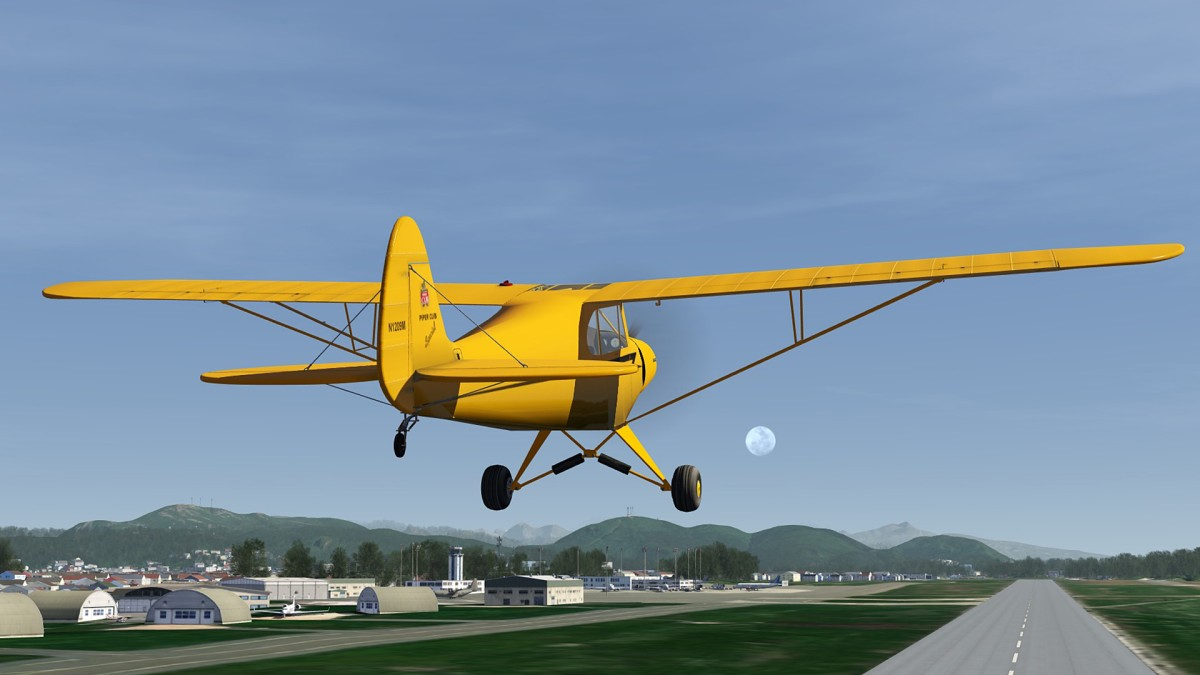 Airborned from Bodo airport-ENBO in Piper Cub