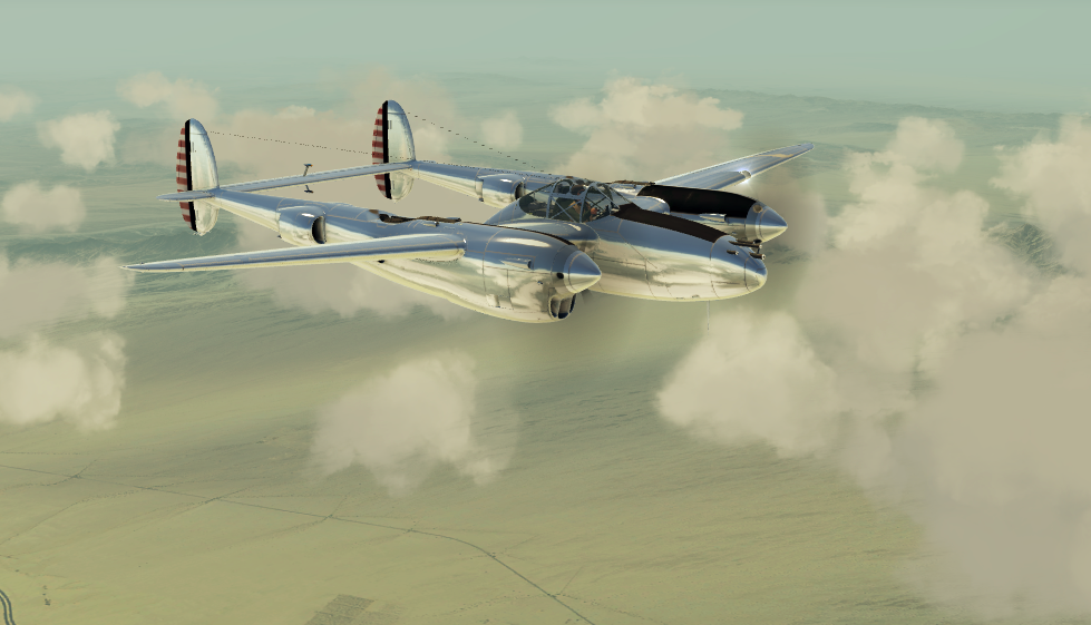 p-38 with reflective livery