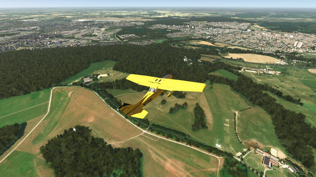 Duesseldorf with Ratingen and glider airfield