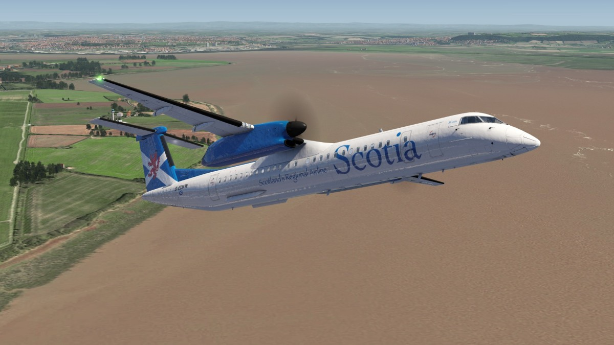 Q400 climb out from Liverpool