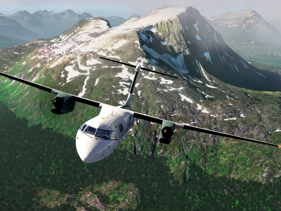 Bardufoss-Norway+Q400 Wideroe_1