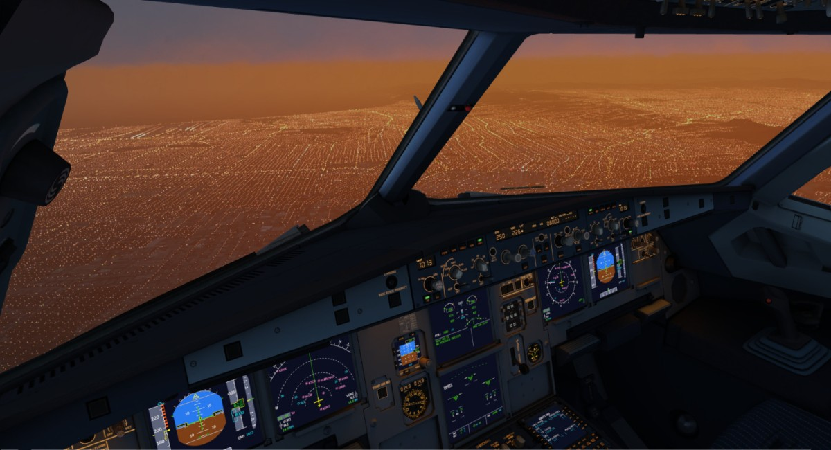 Amazing lighting and buildings over Los Angeles! --- scenery by Toorop
