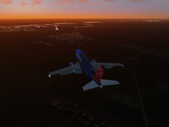 EDXW Approach by Night