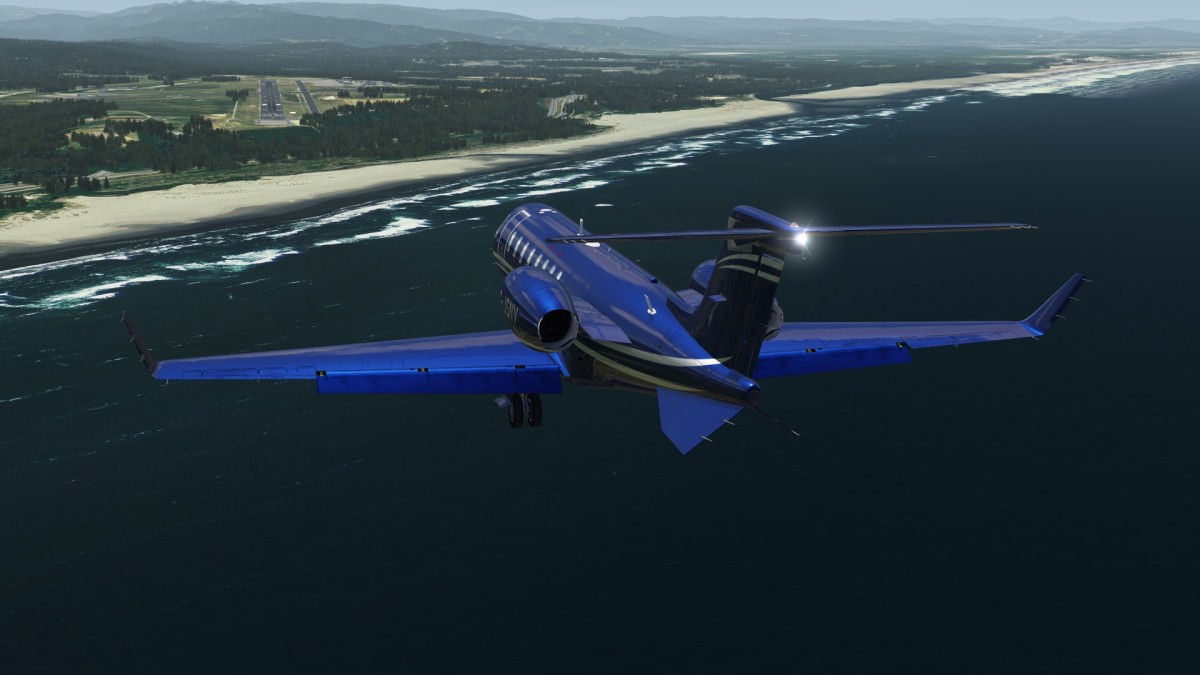 Somewhere in the american northwest (approaching Eureka airport maybe)