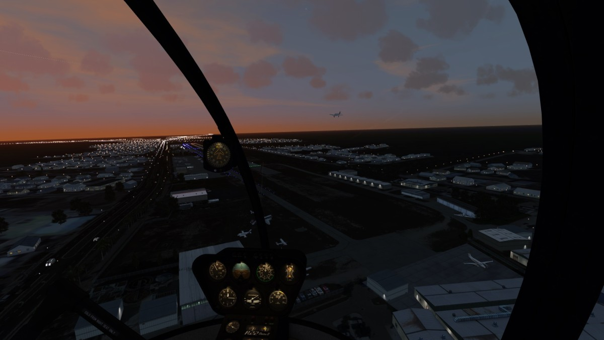 South Florida with animated traffic