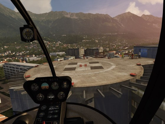 Arriving at Innsbruck Hospital