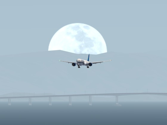 UNITED Services landing in SFO.