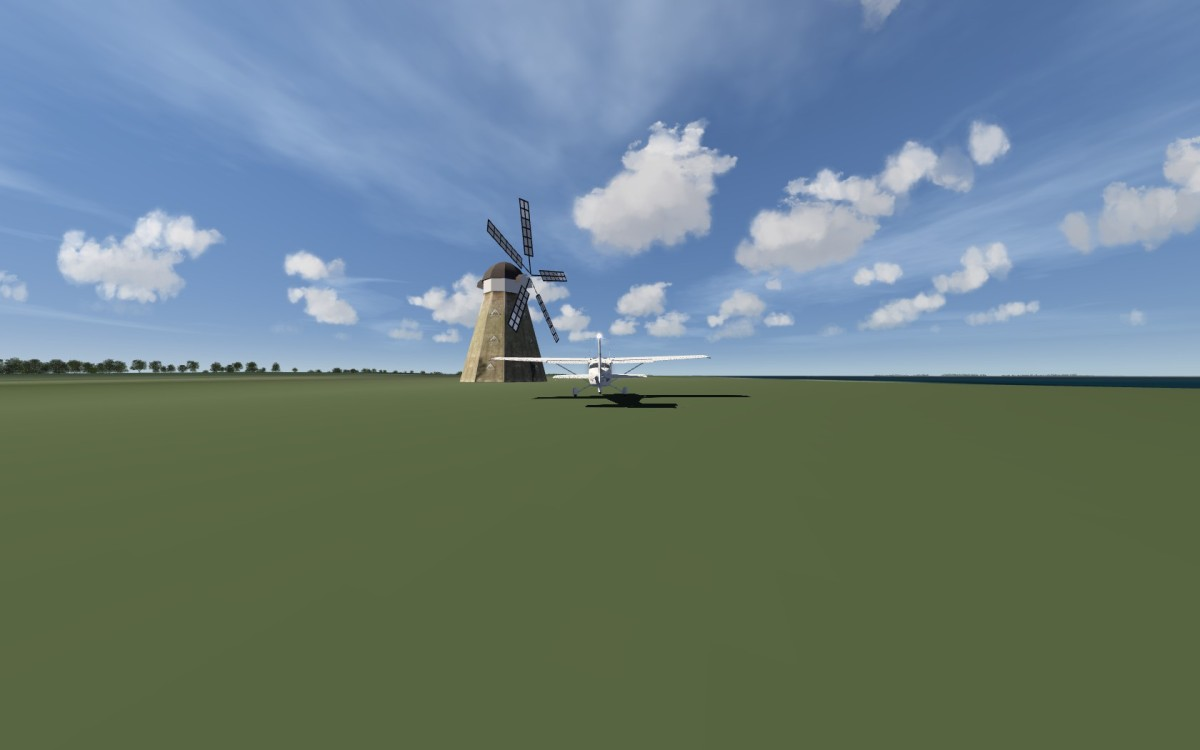 windmill with rotation Blades