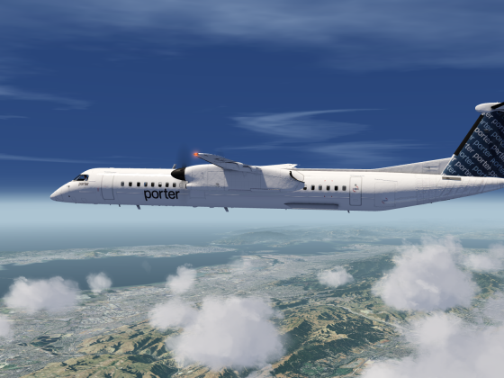 Porter Q400 Above the clouds