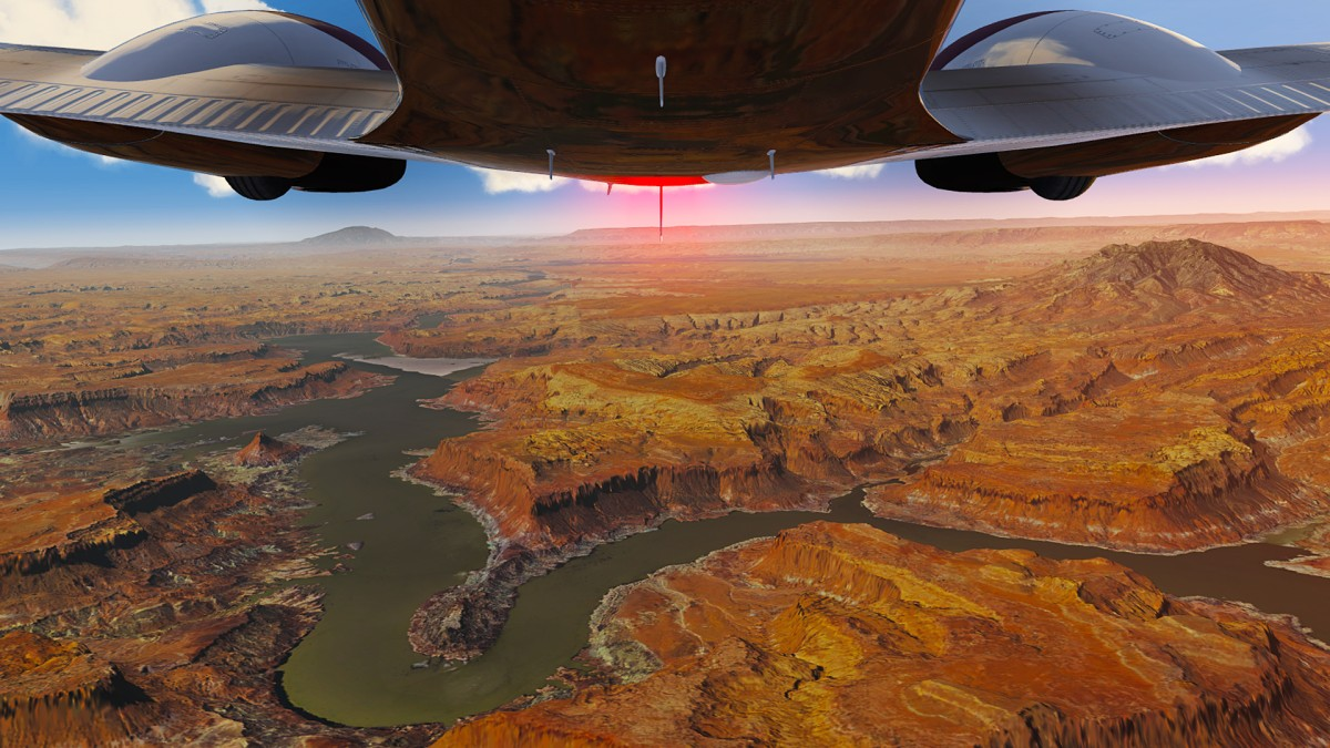 Bellyview over Canyonlands-Utah