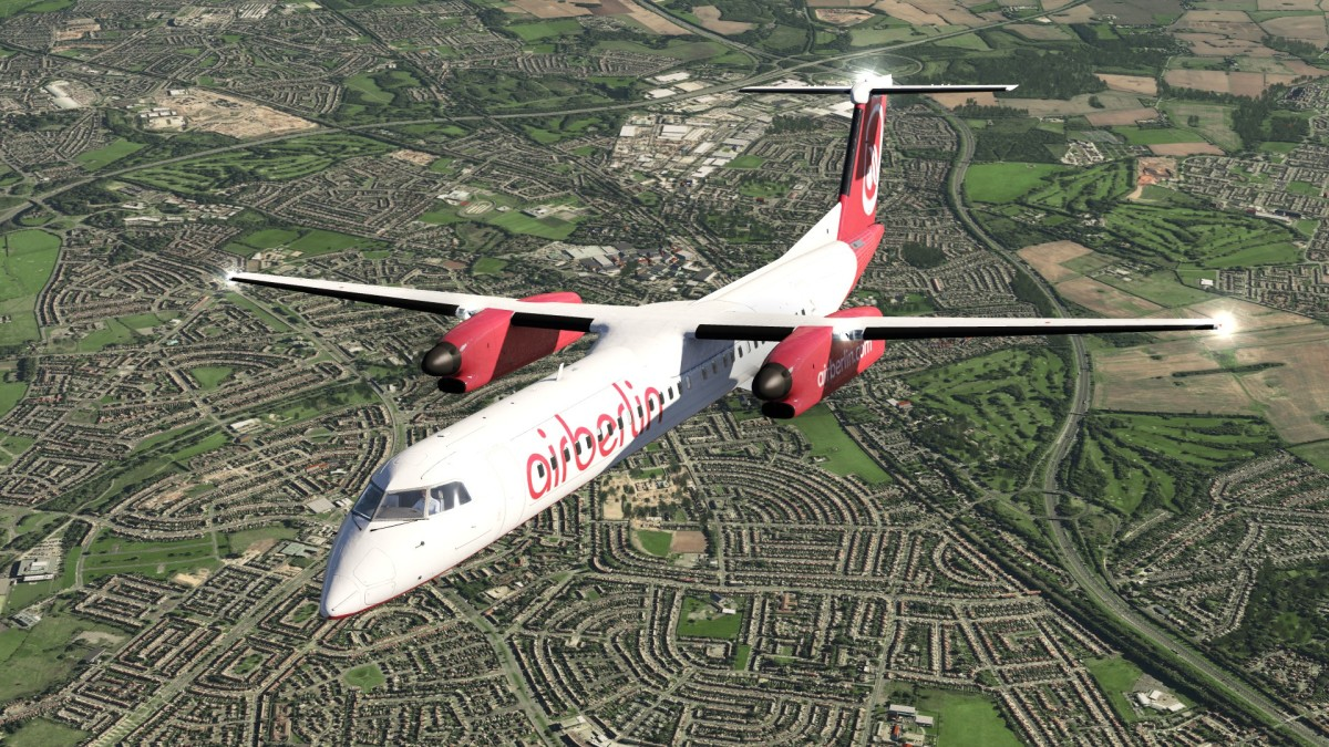 Airberlin over Liverpool
