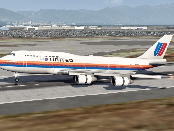 Landing at Salt Lake City with the Queen!