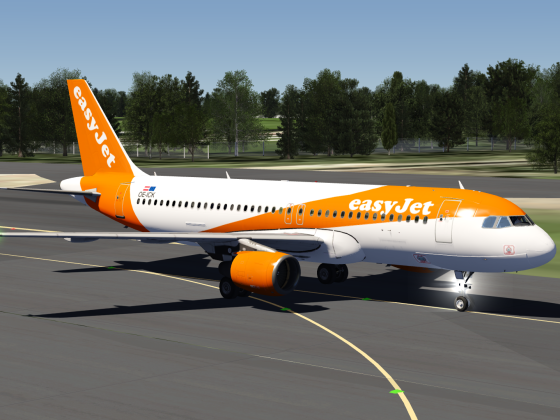 EasyJet Airbus A320 Livery