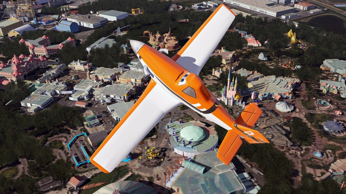 Let the audience at Disneyland Paris admire my spectacular fly-over