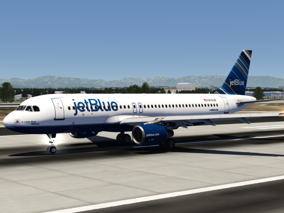 JetBlue Barcode Airbus A320 Livery