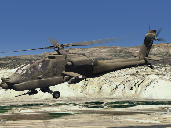 New AH-64A Apache Helicopter