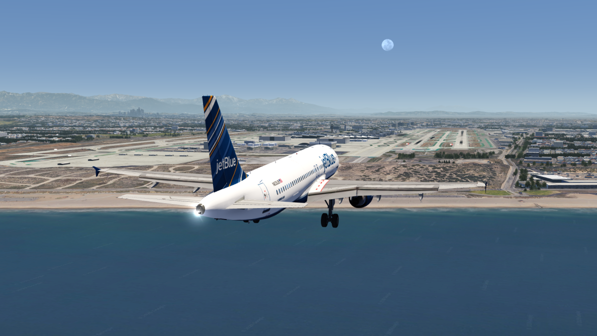 JetBlue A320 Landing in Los Angeles
