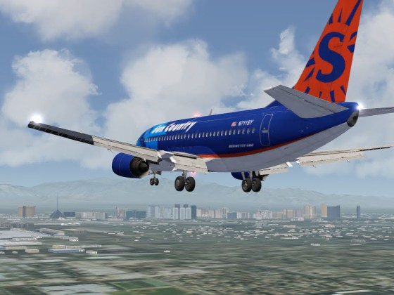 On final at McCarran Airport