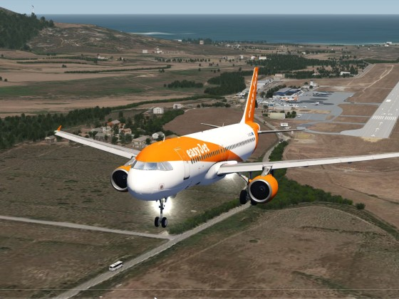 First departure from Calvi Sainte-Catherine Airport corsica