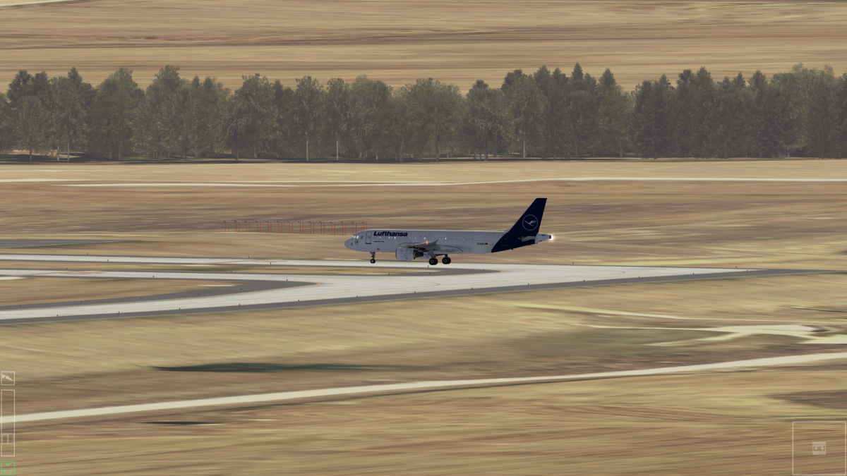 A320 waiting ATC authorization for test on the Runway.