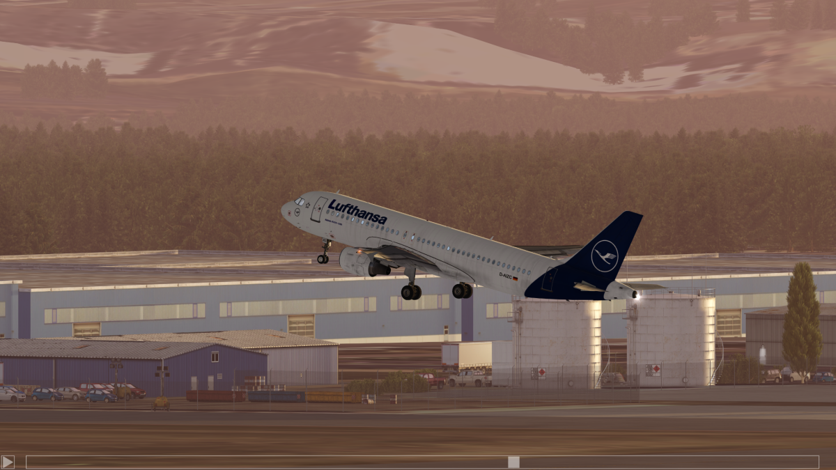 Airbus takeoff to KDEN