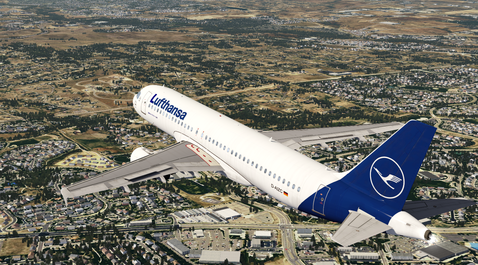 Airbus A320 on its last test flight performing Low Pass over Denver airport!