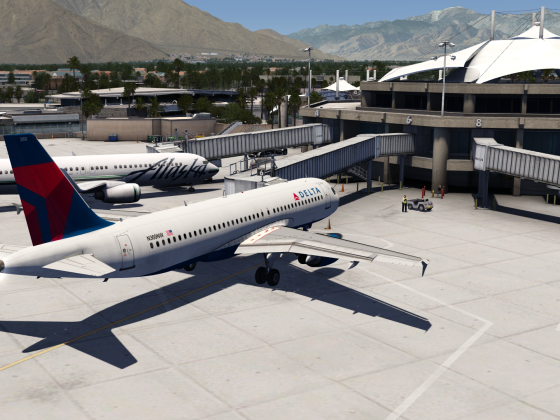 A320 Beautiful approach and Landing at Palm Springs Video