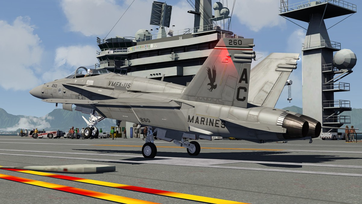 Aircraftcarrier-landed of F18 in Nth Hawaii