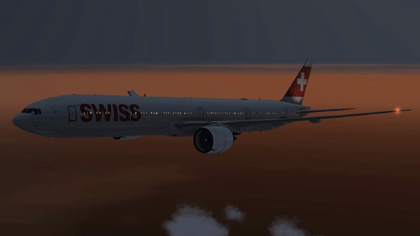 Was doing a 9:22 flight from KMIA-LSZH a week or 2 ago. Here is a 720p screenshot of the Swiss 77W that was used flying over Portugal