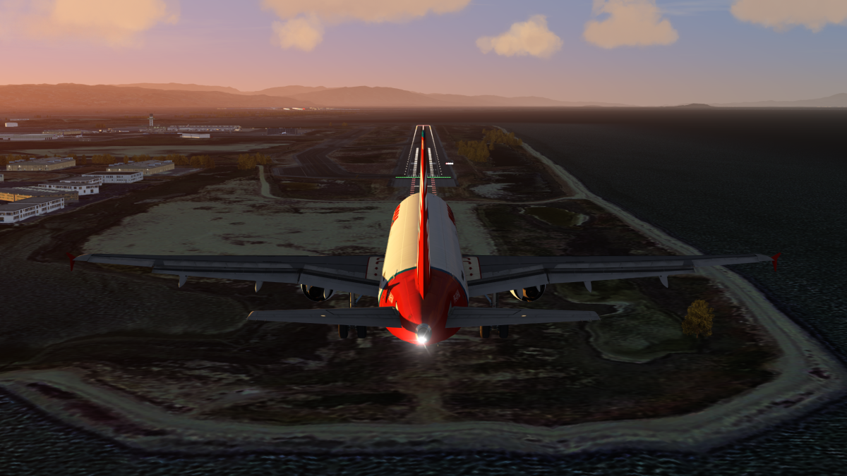Final approach to Oakland from San Jose