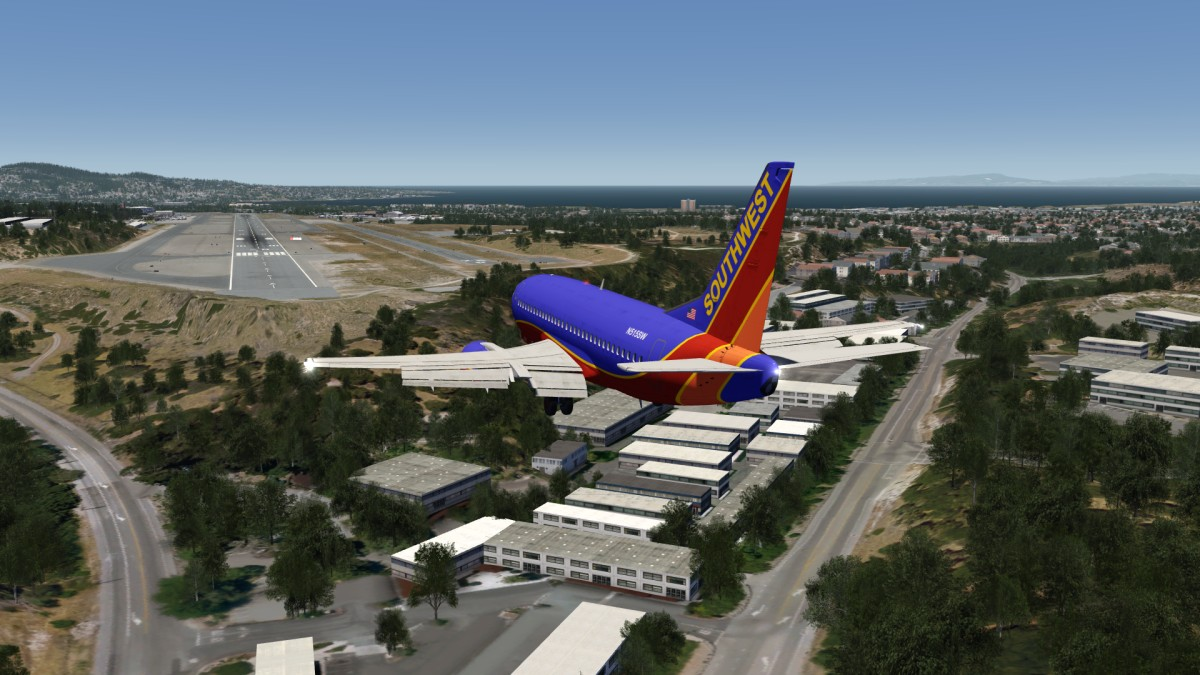 Boeing 737-500 Beautiful Approach and Landing at Monterey Regional Airport, Video