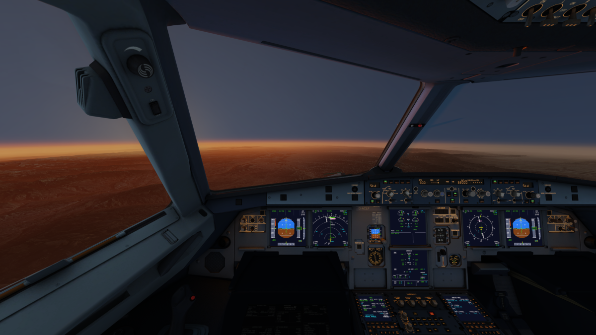 Cockpit Sunrise after taking off from Hill Air Force Base