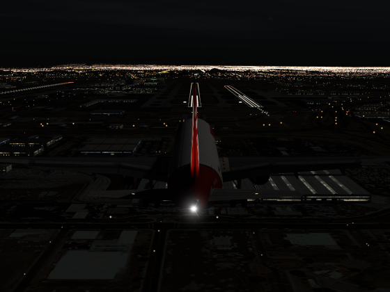 The Night Landing in Phoenix