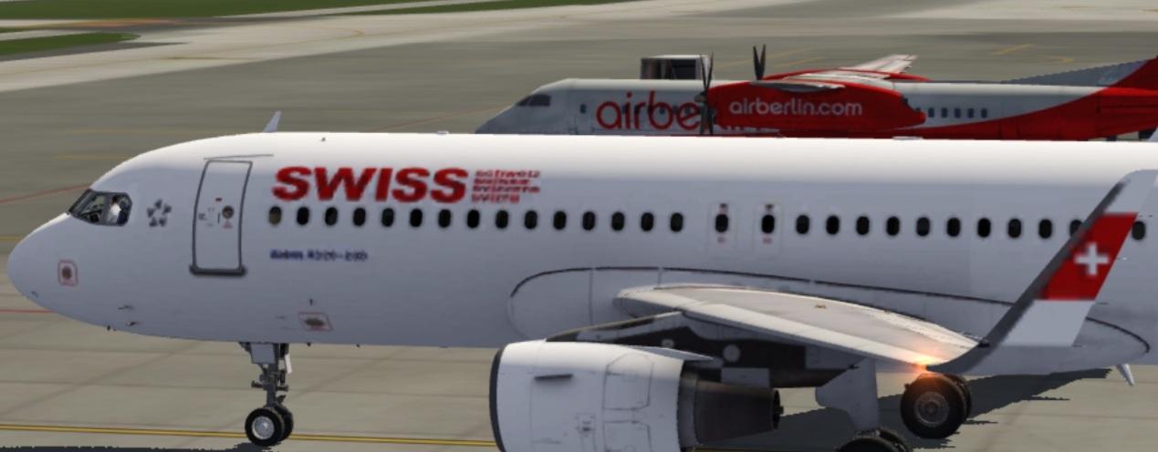 SWISS and airberlin chilling @Zürich