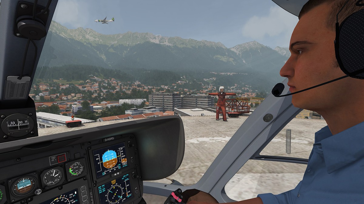 Set down the Heli smooth and on the right spot