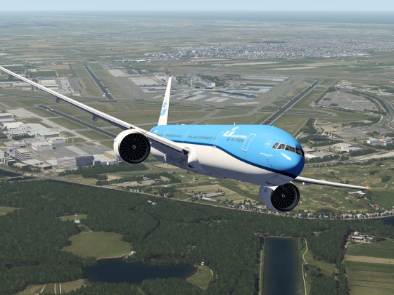 KLM Boeing 777 Takeoff from Amsterdam, Netherlands Video