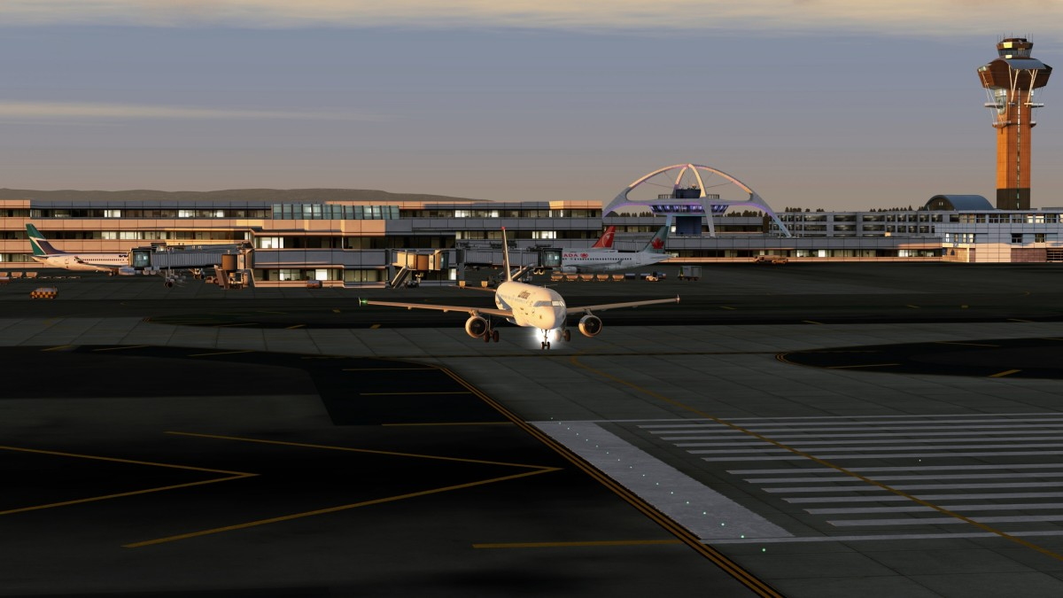 A320 Taking off from Los Angeles to KTTS