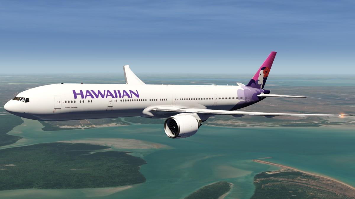 Hawaiian Airlines Boeing 777 Livery Now Available to Download