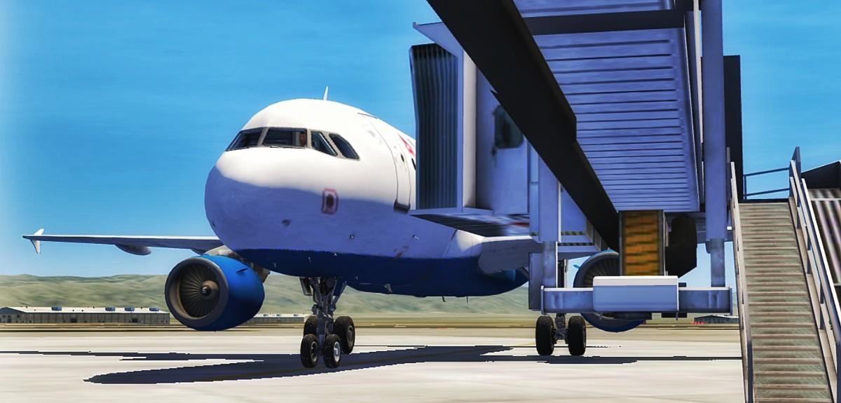 A320 at LAX