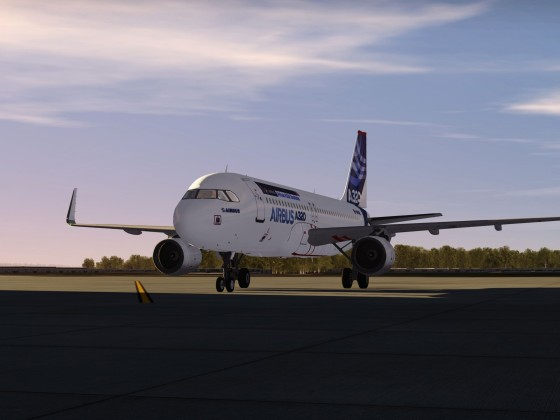 A320 In final evaluation for the Flutter Test tomorrow!