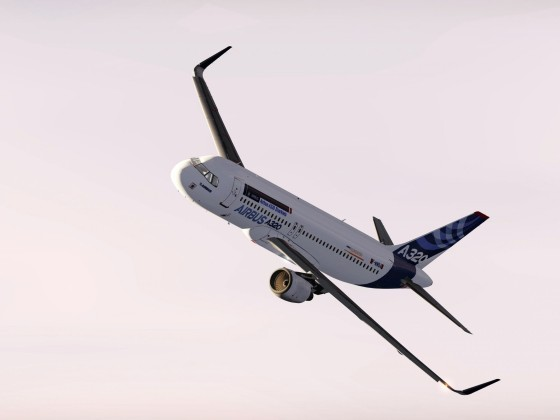 A320 F-WWBA on it's certification flight test and Low Pass