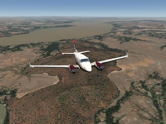 Flying the Australia Darwin SW-Extension (photo-scenery with special outback-vegetation)